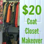 Frugal Coat Closet Makeover