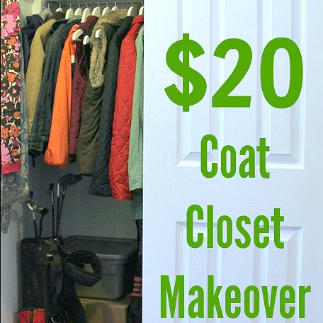 It's important that your coat closet is organized and works for you. Having a lovely, functional coat closet doesn't have to be expensive with this frugal coat closet makeover.