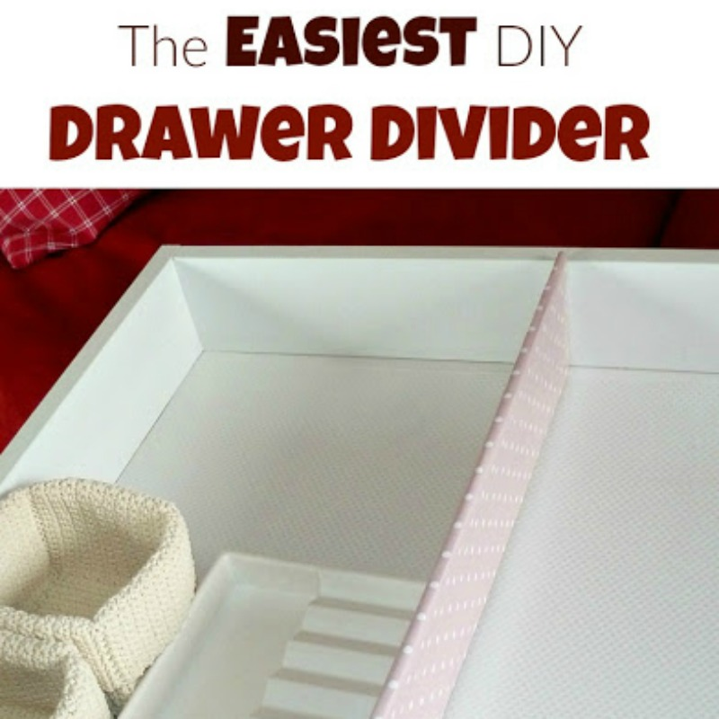 How to Make the Easiest DIY Drawer Organizer and organize all those drawers in your home. today.