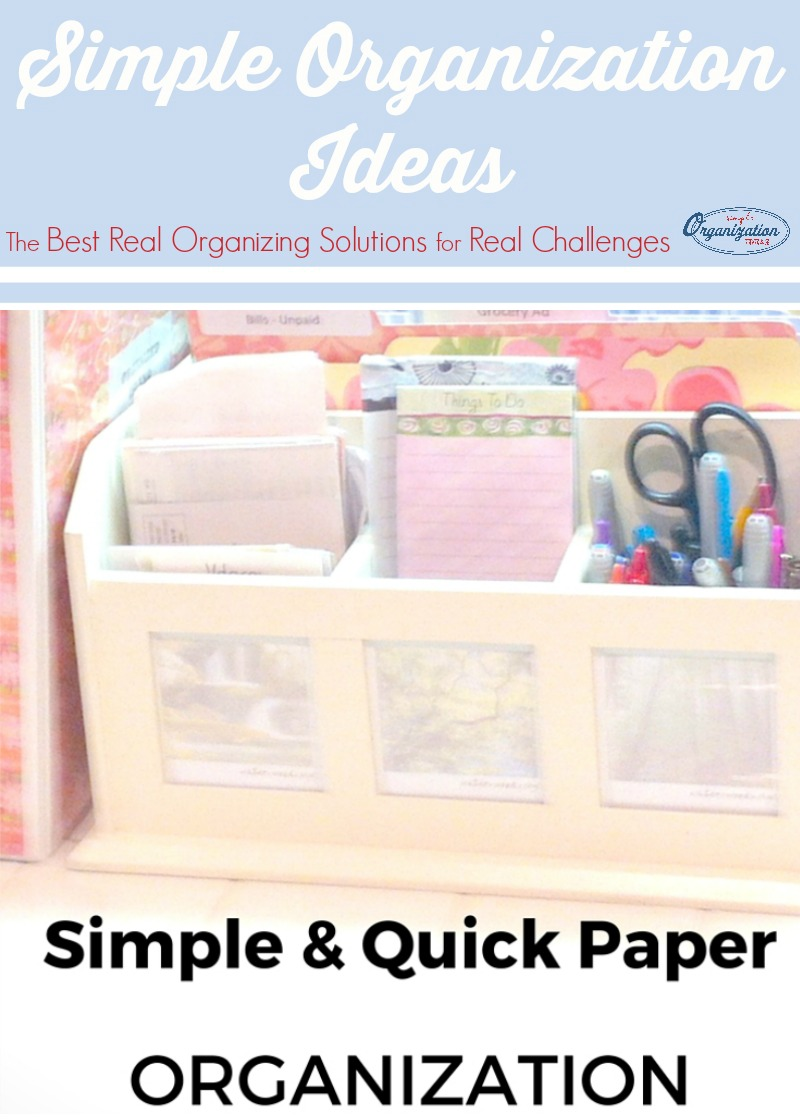 That pile of paper causes untold stress. Taking charge and organizing it can be easy with these simple, quick paper organization tips.