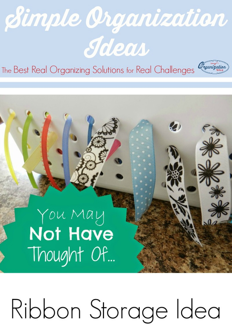 A versatile ribbon storage idea to help you organize and tame all your craft and gift wrap ribbons.